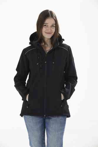GOOD BOY! Damen Softshelljacke LUCY - schwarz
